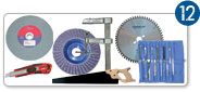 12 - TOOLS FOR GLASS, WOOD, LINOLEUM - ABRASIVES
